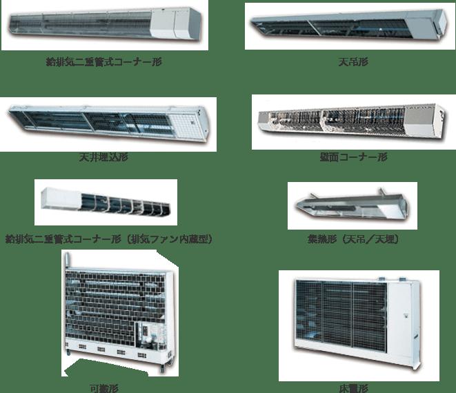 業務用暖房機の種類