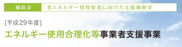 [平成29年度] エネルギー使用合理化等事業者支援事業