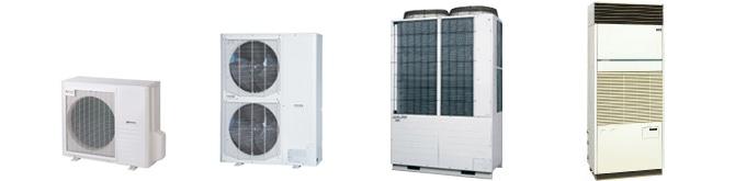 店舗・オフィス用エアコン、ビル用マルチエアコン、工場・設備用エアコンなど