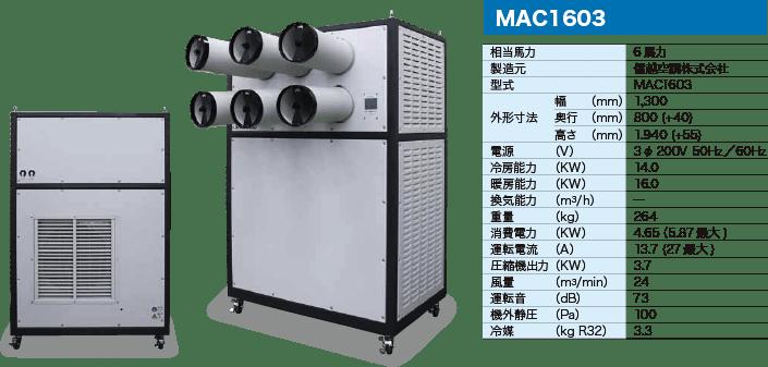 移動式エアコン・ヒエスポ MAC1603